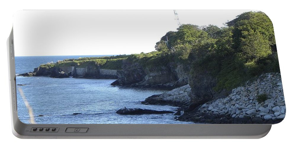 Cliff Walk Portable Battery Charger featuring the photograph Cliff Walk by Shannon Turek
