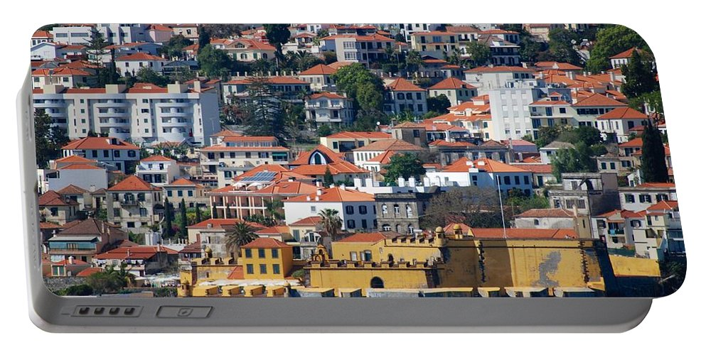 Funchal Portable Battery Charger featuring the photograph A Bit Of Funchal by Eric Tressler