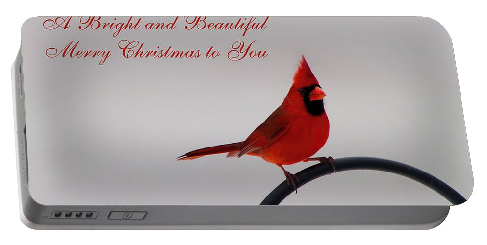 Merry Christmas Portable Battery Charger featuring the photograph A Bright And Beautiful Merry Christmas To You by Kathy Clark