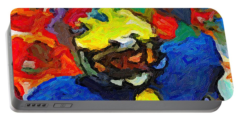Anthony Carter Portable Battery Charger featuring the painting A. C. In The House by John Farr