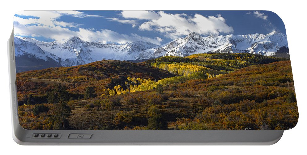 Sneffels Mountain Range Portable Battery Charger featuring the photograph A Change Of Seasons by Bob Phillips