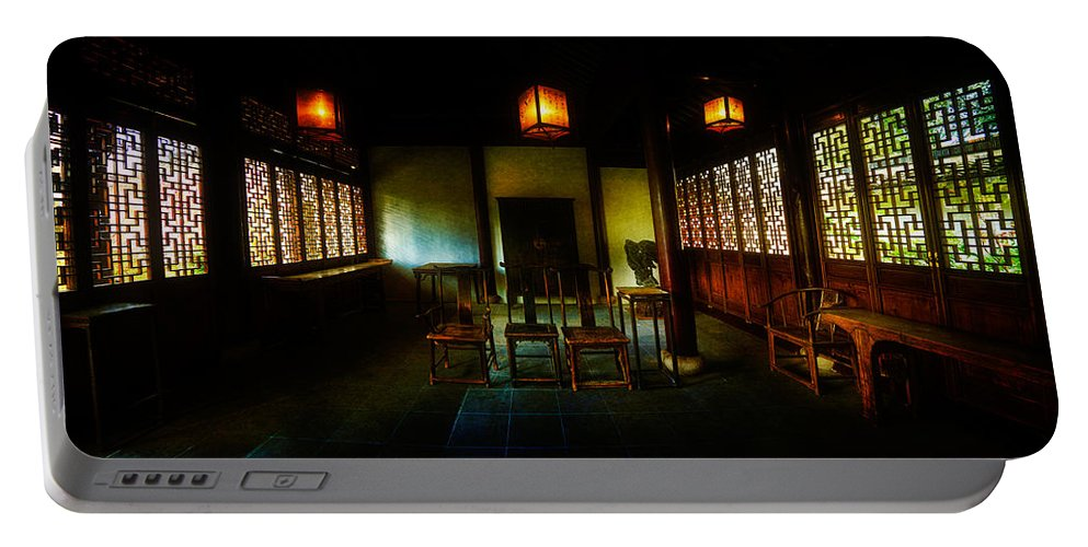 Asian Portable Battery Charger featuring the photograph A Chinese Scholar's House by Chris Lord