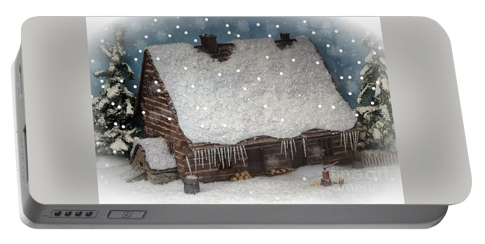 Christmas Portable Battery Charger featuring the photograph A Christmas In My Dreams by Living Color Photography Lorraine Lynch