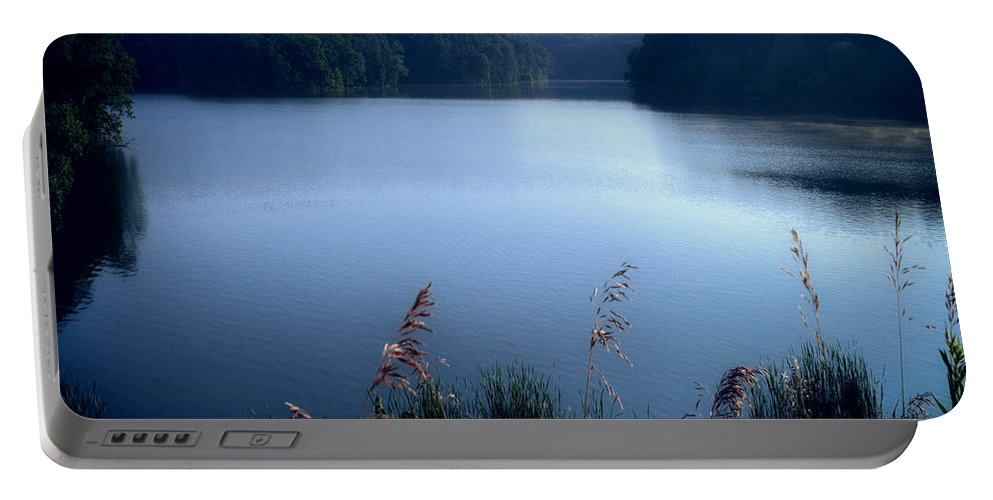 Cobalt Portable Battery Charger featuring the photograph A Cobalt Morning by Thomas Woolworth