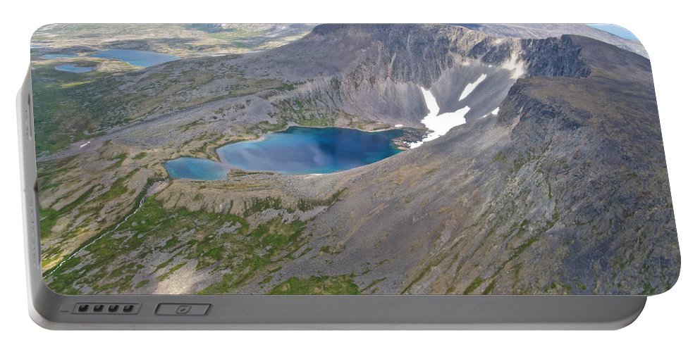 A Crater Lake From The Seaplane Portable Battery Charger featuring the photograph A Crater Lake From The Seaplane In Katmai National Preserve-alaska by Ruth Hager