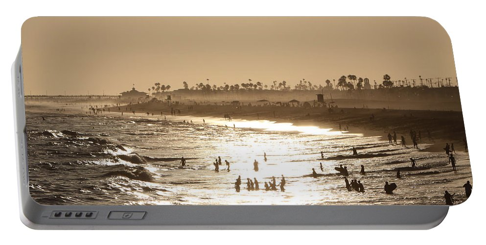 Landscape Portable Battery Charger featuring the photograph A Day At The Beach by Shoal Hollingsworth