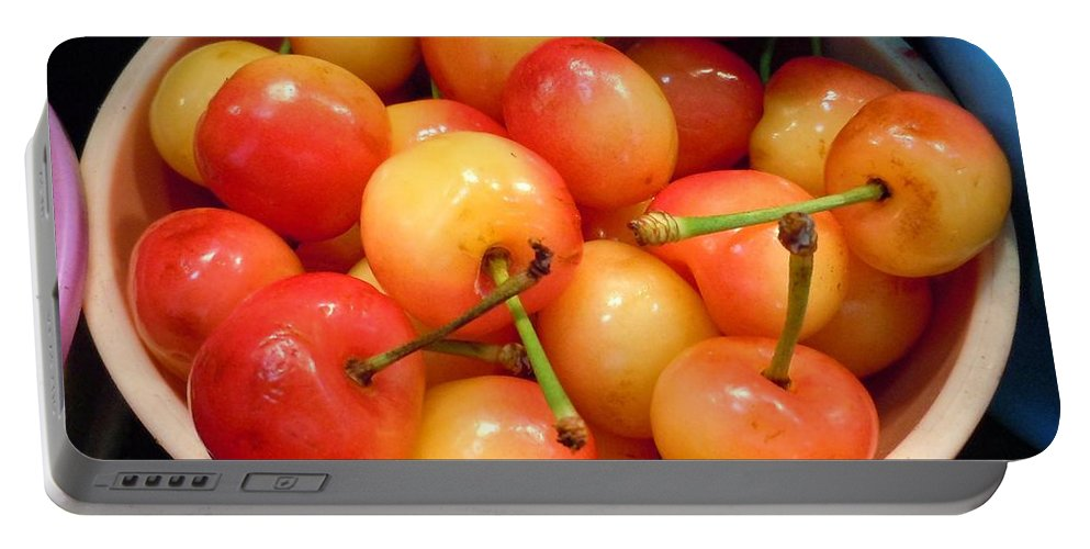 Cherries Portable Battery Charger featuring the photograph A Day At The Market #7 by Robert ONeil