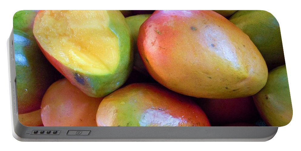 Mangoes Portable Battery Charger featuring the photograph A Day At The Market #8 by Robert ONeil