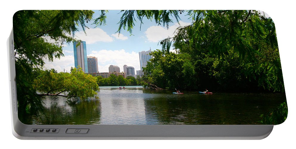 Austin Portable Battery Charger featuring the photograph A Day On Ladybird Lake by Randy Smith