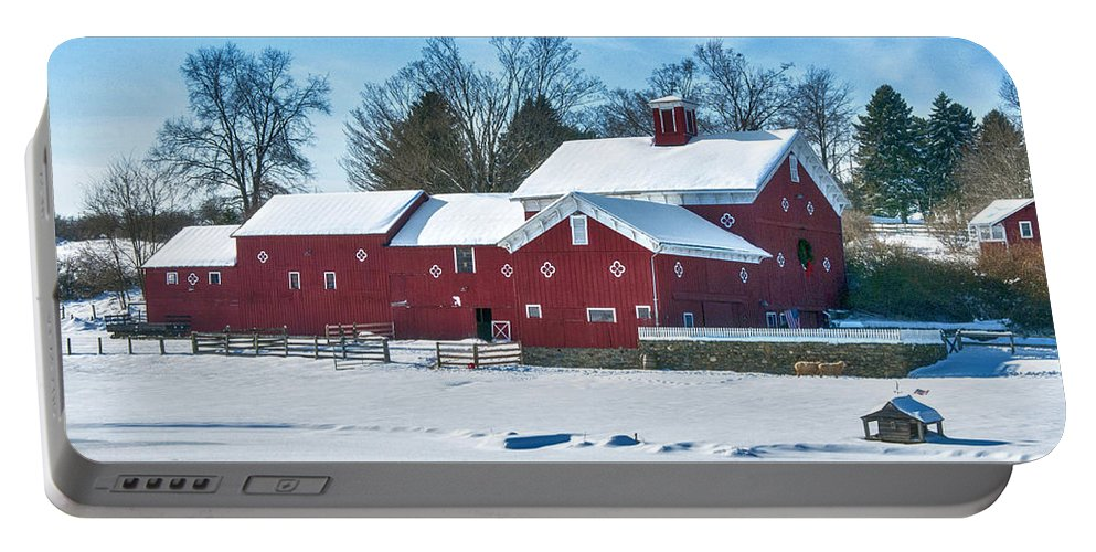 Hdr Portable Battery Charger featuring the photograph A Fine Winter Day by Claudia Kuhn