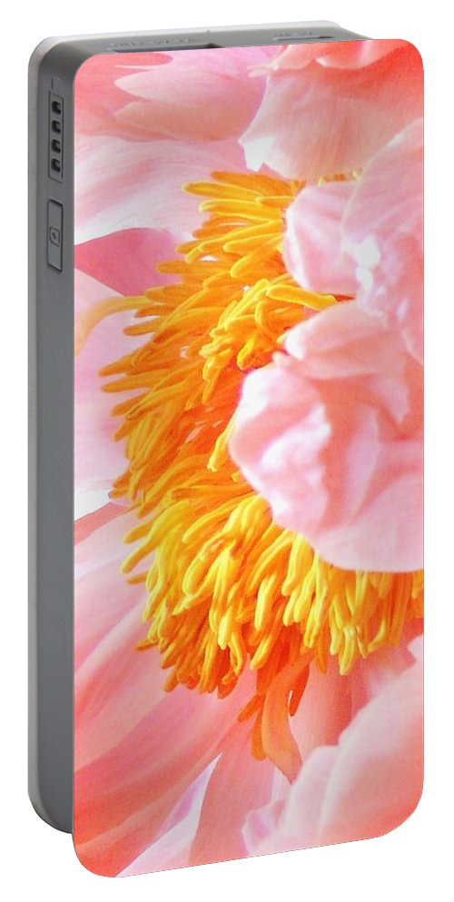 Abstract Flower Portable Battery Charger featuring the photograph A Flower Effect by Stephanie Callsen
