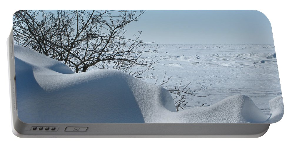 Winter Portable Battery Charger featuring the photograph A Gentle Beauty by Ann Horn