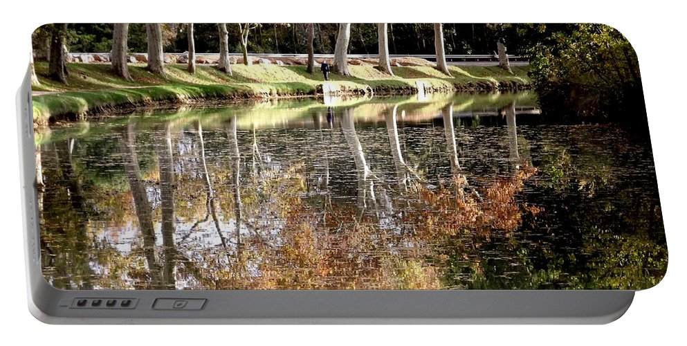 Autumn Portable Battery Charger featuring the photograph A Golden Moment by France Art