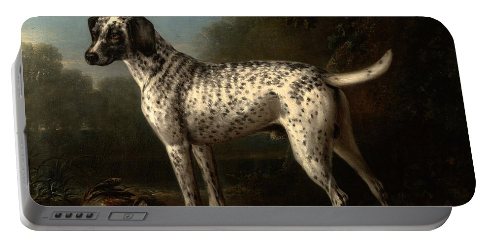 John Wootton Portable Battery Charger featuring the painting A Grey Spotted Hound by John Wootton