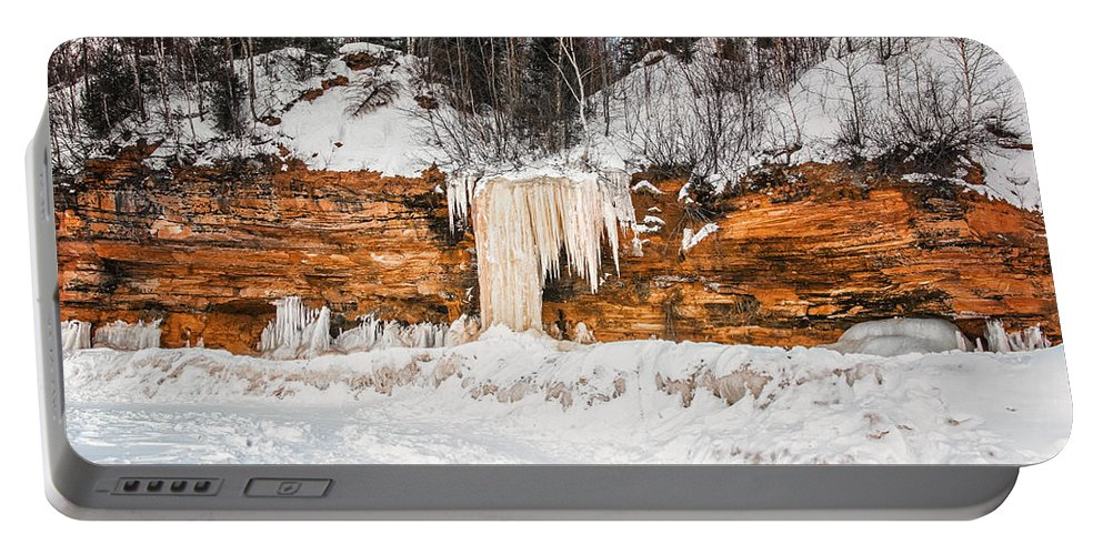 Winter Portable Battery Charger featuring the photograph A Land Of Snow And Ice by Jonah Anderson