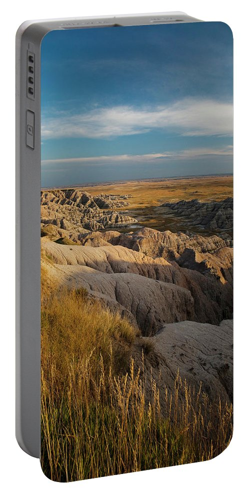 Badlands National Park Portable Battery Charger featuring the photograph A Landscape Image Of Badlands National by Michael Hanson