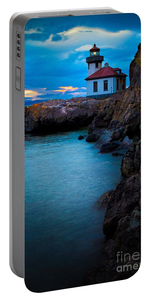 America Portable Battery Charger featuring the photograph A Light In The Darkness by Inge Johnsson