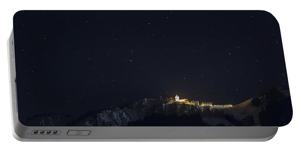 Night Portable Battery Charger featuring the photograph A Magic Night by Alfio Finocchiaro