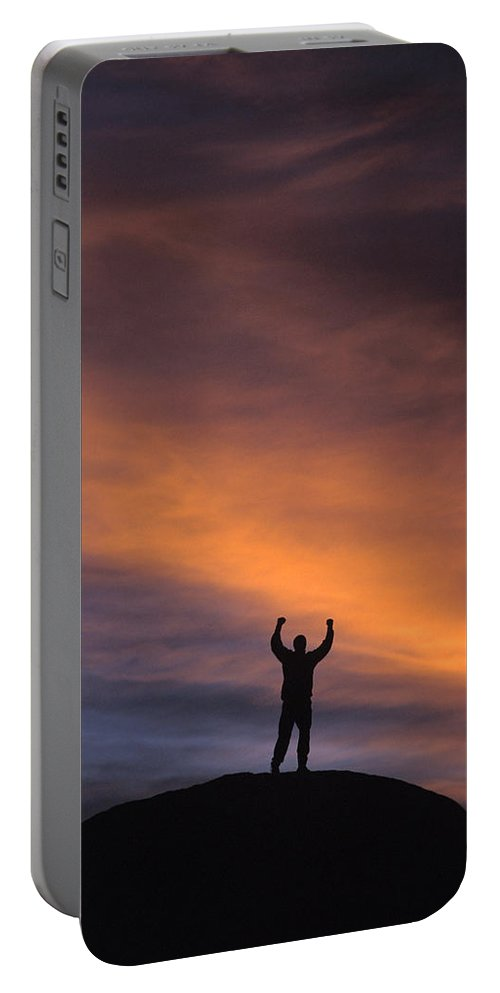 Accomplishment Portable Battery Charger featuring the photograph A Man In Lone Pine, California by Corey Rich