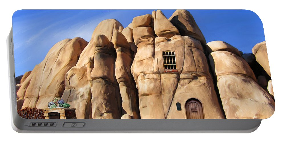 Joshua Tree Portable Battery Charger featuring the painting A Man's Home Is His... by Snake Jagger