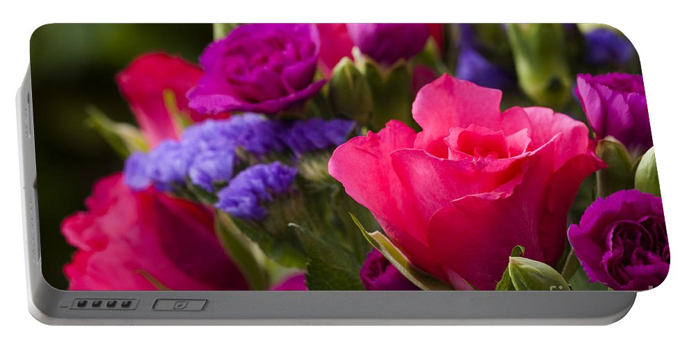 Annegilbert Portable Battery Charger featuring the photograph A Mixed Bouquet by Anne Gilbert