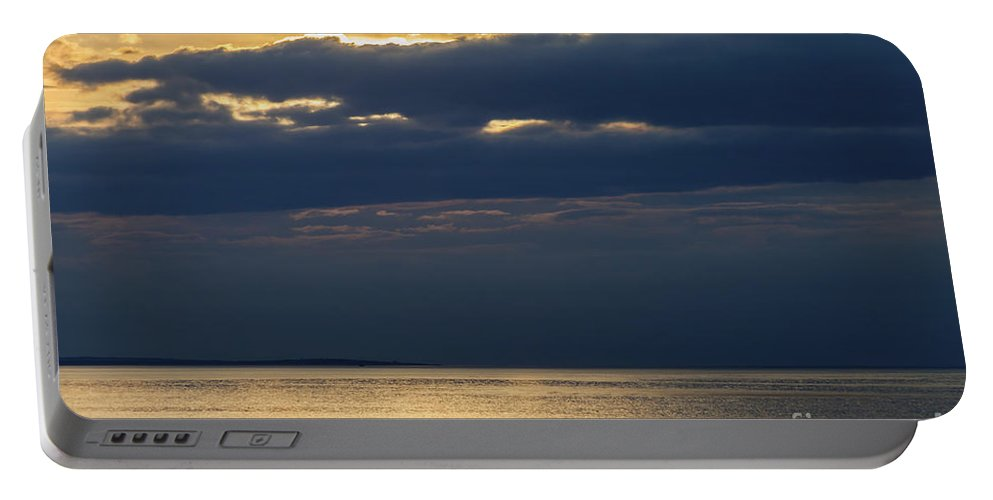 Dramatic Portable Battery Charger featuring the photograph A Moray Firth Sunset by Diane Macdonald