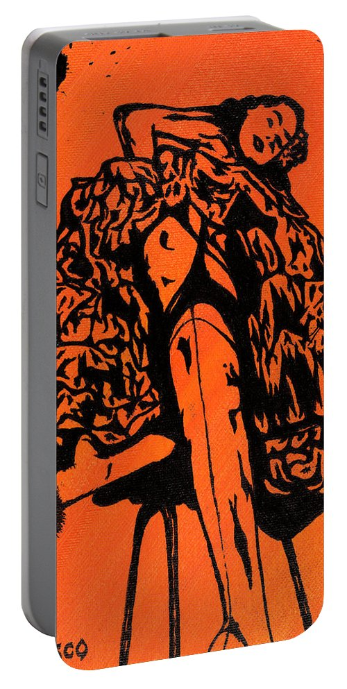 Woman Portable Battery Charger featuring the painting A Perfect Angle by Salvadore Delvisco