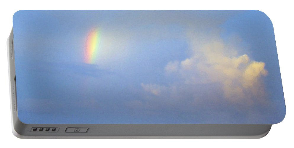 Rainbow Portable Battery Charger featuring the photograph A Piece Of The Rainbow by Nancy L Marshall