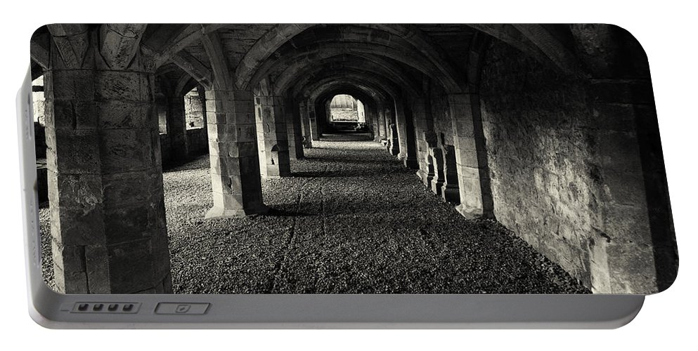 Priory Portable Battery Charger featuring the photograph A Priory Vault. by Dave Hare