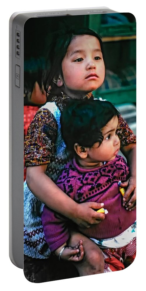 India Portable Battery Charger featuring the photograph A Proud Sister by Steve Harrington