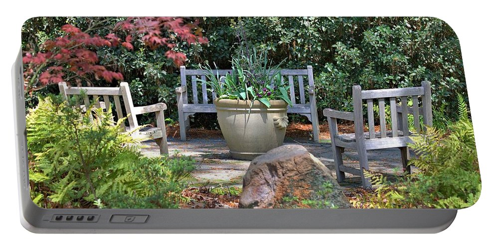 8381 Portable Battery Charger featuring the photograph A Quiet Place To Meet by Gordon Elwell