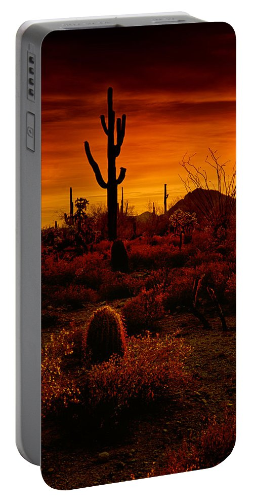 Desert Southwest Portable Battery Charger featuring the photograph A Red Desert by Saija Lehtonen