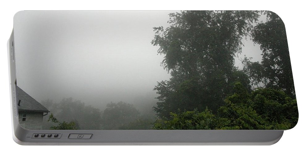 Mist Portable Battery Charger featuring the photograph A Rural Pennsylvania Mist by Cora Wandel