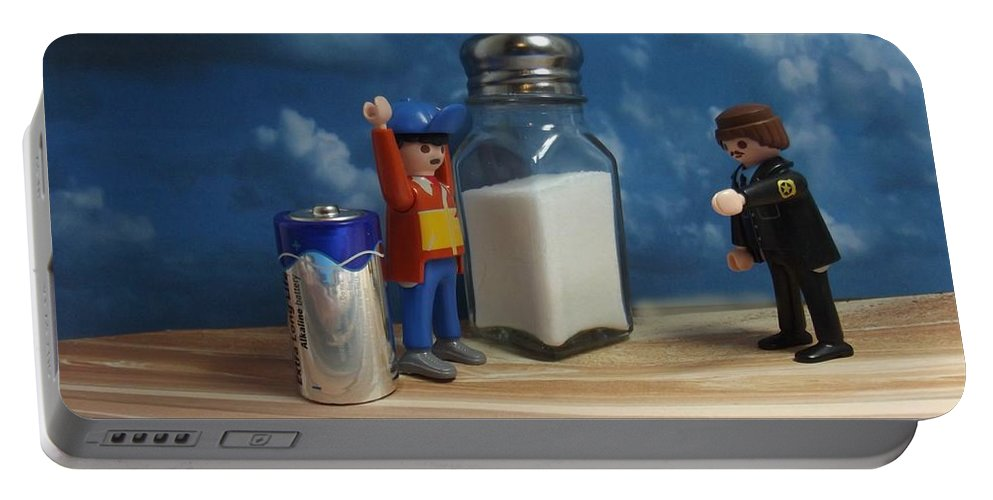 Assault Portable Battery Charger featuring the photograph A Salt And Battery by Caroline Peacock