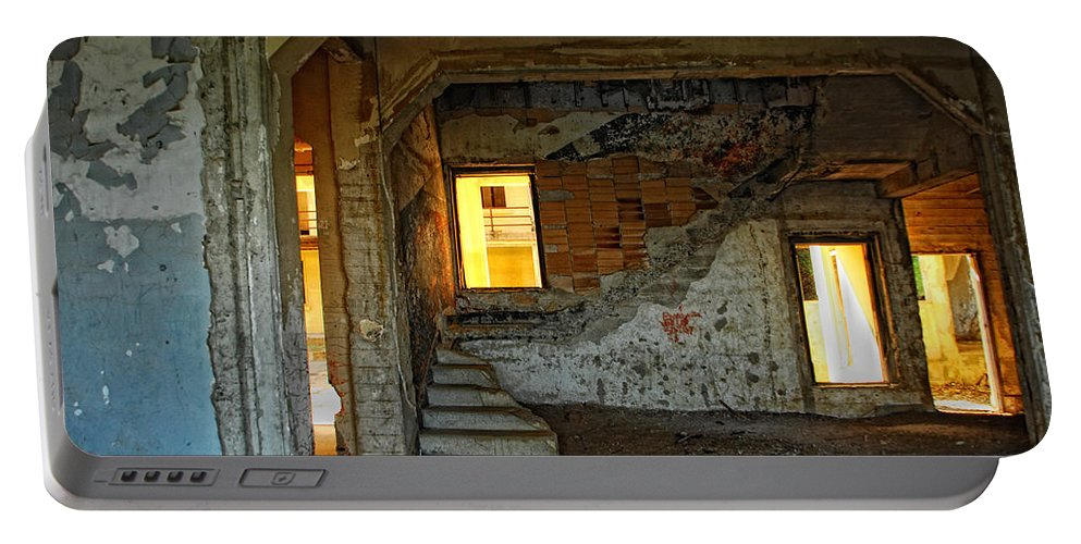 Old Buildings Portable Battery Charger featuring the photograph A Sense Of Abandonment by Donna Blackhall