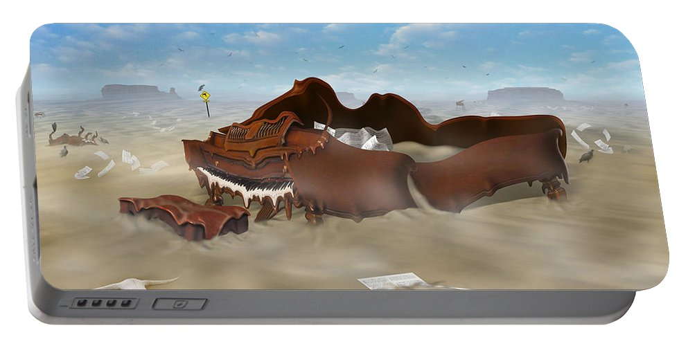 Surrealism Portable Battery Charger featuring the photograph A Slow Death In Piano Valley by Mike McGlothlen