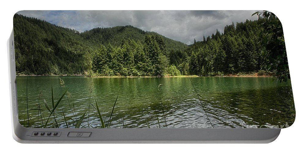Nature Portable Battery Charger featuring the photograph A Small Island by Belinda Greb