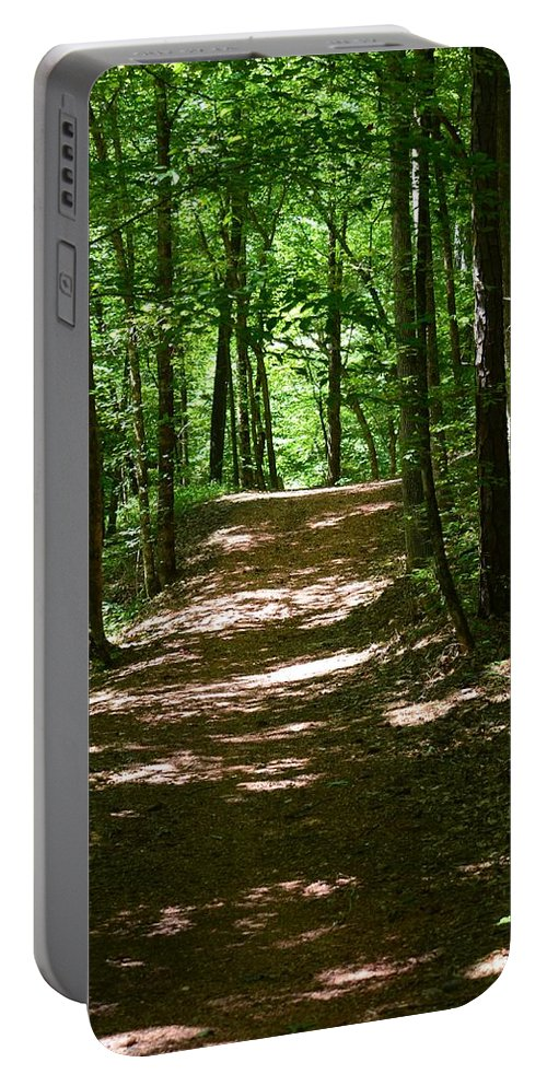 A Summer's Walk Portable Battery Charger featuring the photograph A Summer's Walk by Maria Urso