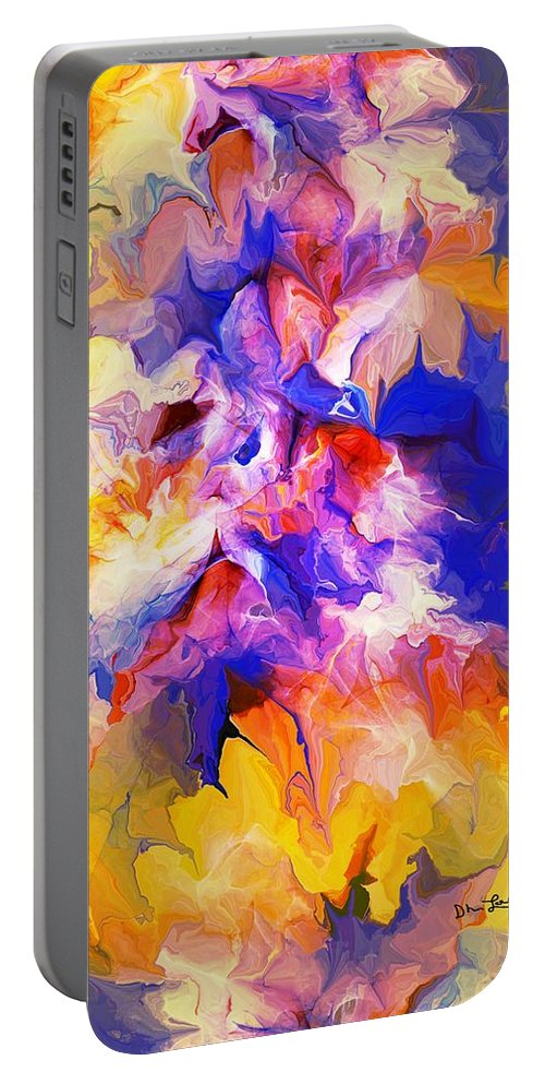 Fine Art Portable Battery Charger featuring the digital art A Sunday Morning Doodle 051213 by David Lane