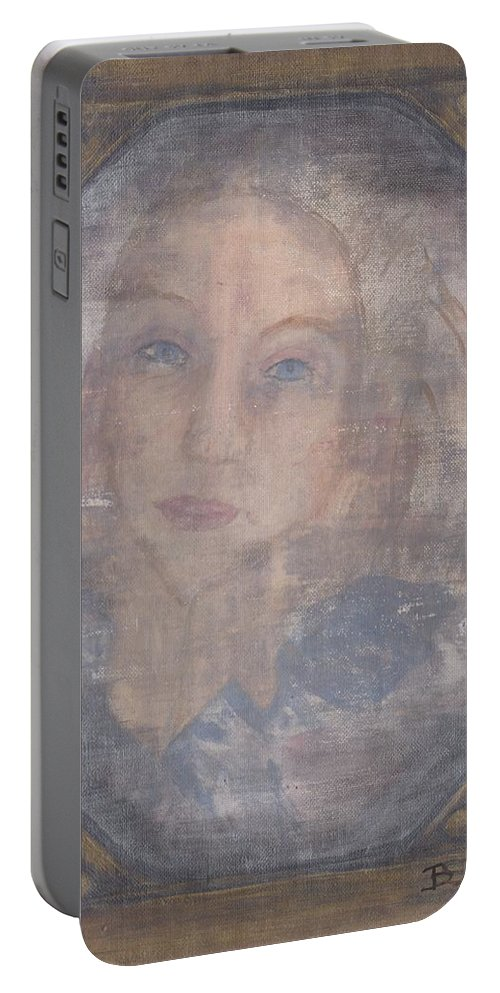 A Tear For A Memory Portable Battery Charger featuring the painting A Tear For A Memory by Barbara St Jean