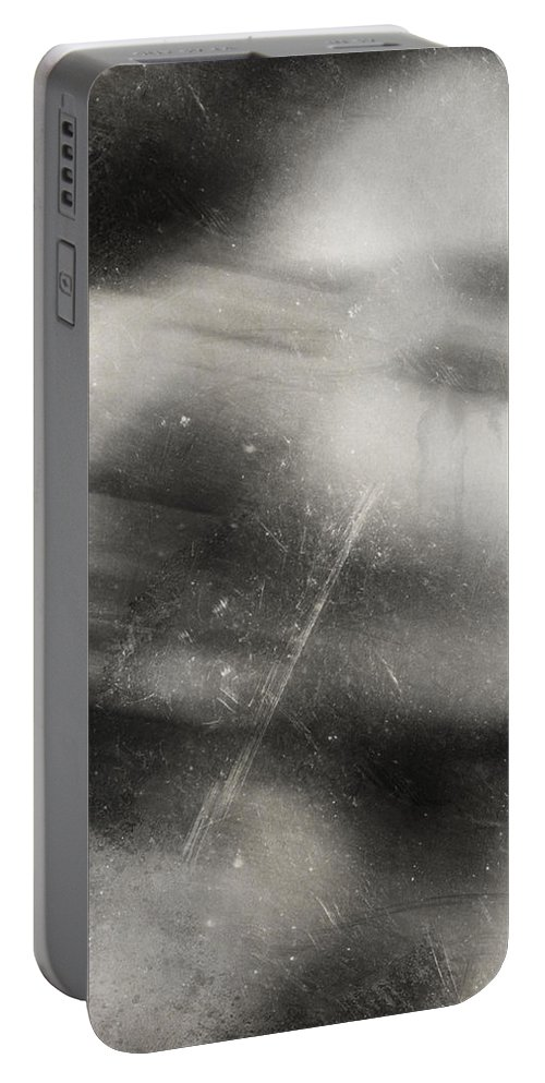 Tear Portable Battery Charger featuring the photograph A Tear For Heaven by The Artist Project