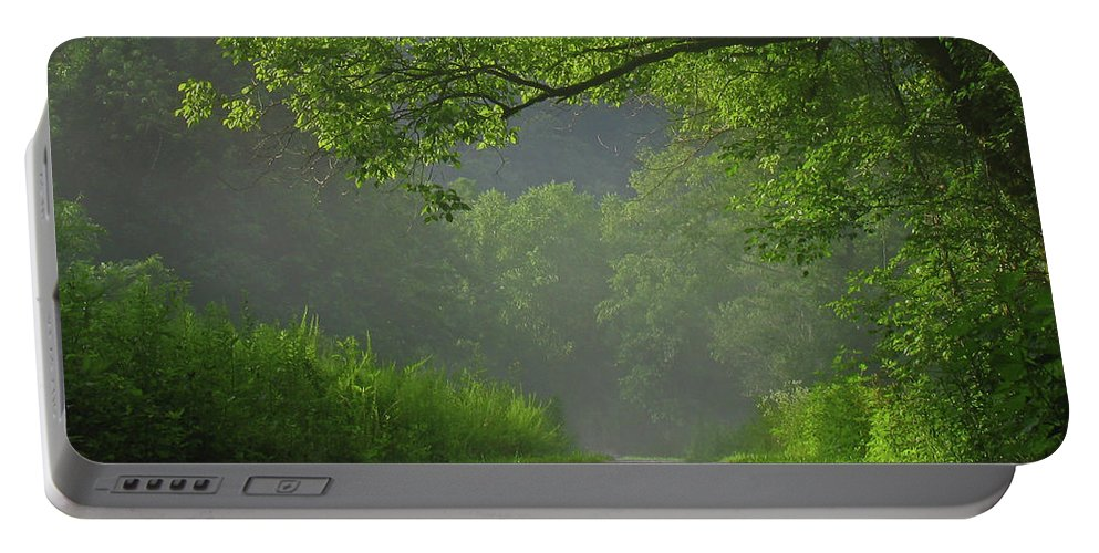 Green Portable Battery Charger featuring the photograph A Touch Of Green by Douglas Stucky