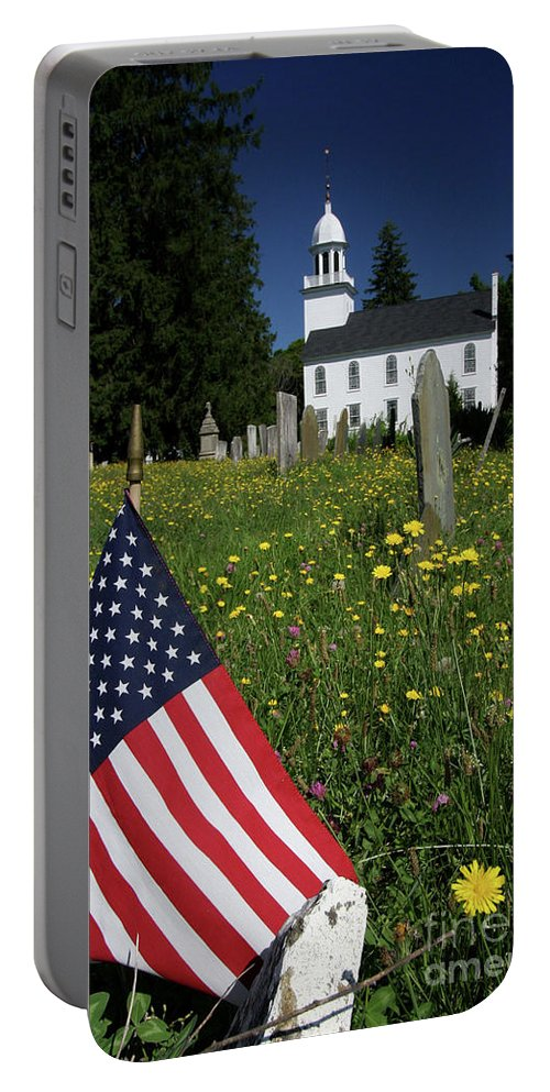 Country Portable Battery Charger featuring the photograph A Veteran's Scene by Karol Livote