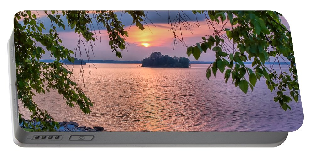 Water Portable Battery Charger featuring the photograph A View To A Sunset by Lynne Jenkins