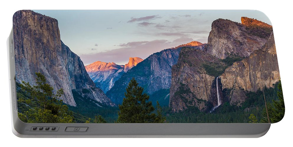 Yosemite Portable Battery Charger featuring the photograph A View To Behold by Kristopher Schoenleber