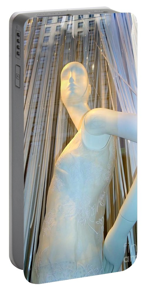 Mannequins Portable Battery Charger featuring the photograph A Vision In White by Ed Weidman