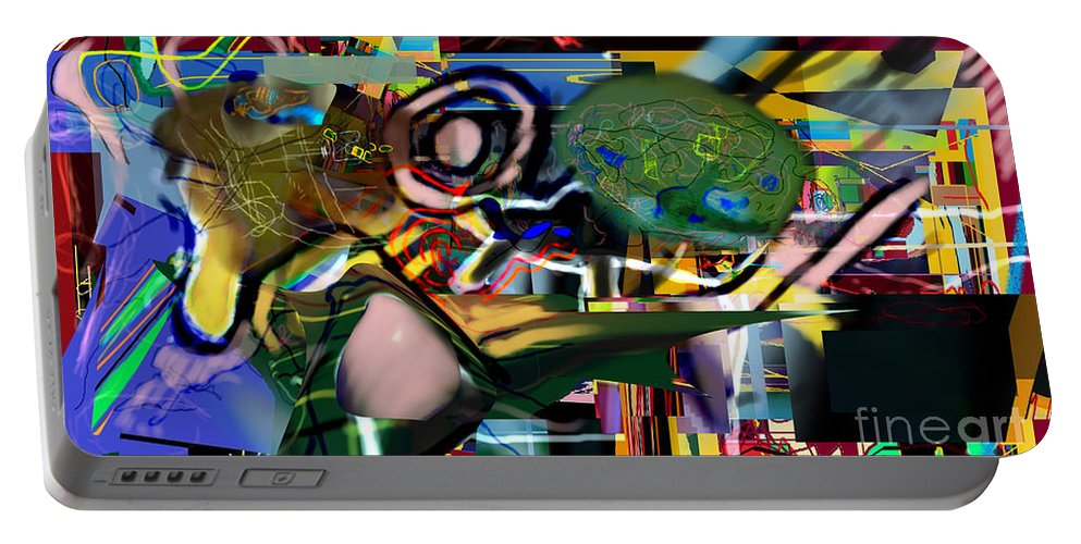 Torah Portable Battery Charger featuring the digital art A Way To Bring The World To Tsheuvah 06 by David Baruch Wolk