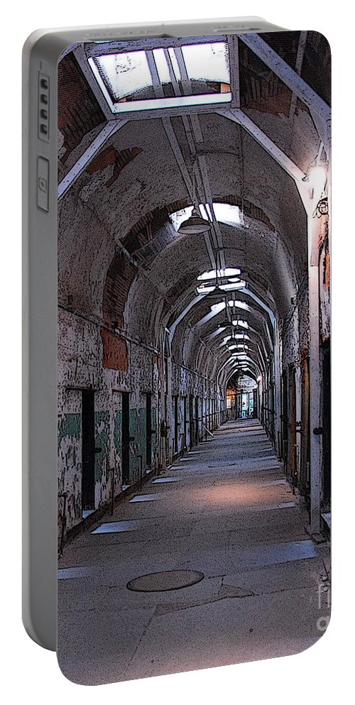 Hallway Portable Battery Charger featuring the photograph A Whole New Perspective by Cindy Manero