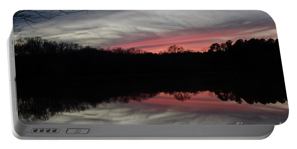 Sunset Portable Battery Charger featuring the photograph A Christmas Winter Sunset by Donna Brown