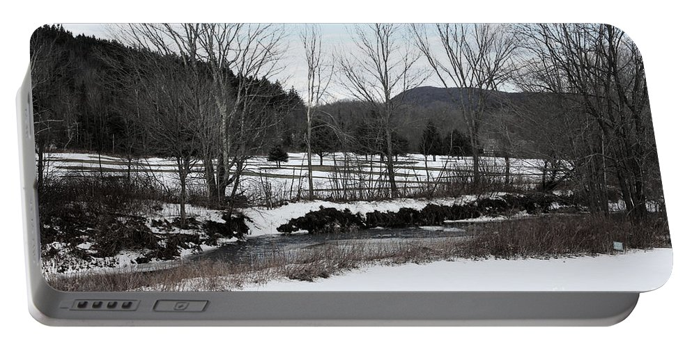 Vermont Portable Battery Charger featuring the photograph A Wintery Day In Vermont by Christy Gendalia